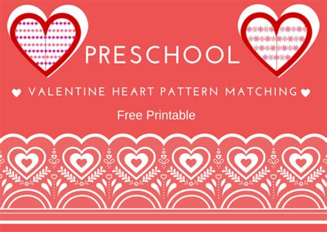 heart pattern match up fun activities for children valentine heart pattern matching
