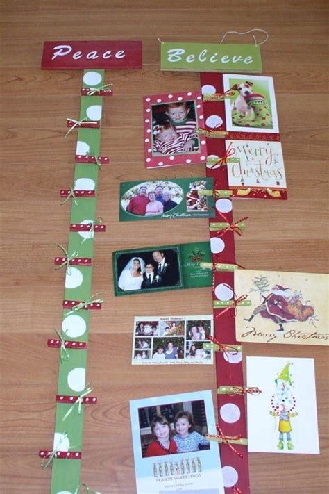 christmas card display holiday card holder wooden card display christmas decor