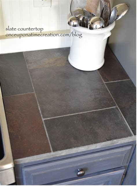 slate kitchen countertops diy slate countertop once upon a time creation