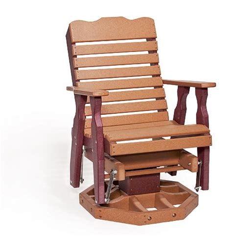 amish outdoor swivel glider chair polywood porch glider chair from dutchcrafters amish furniture