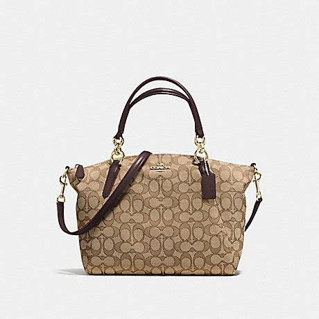 Coach Kelsey Small Signature Khaki coach f58283 small kelsey satchel in outline signature