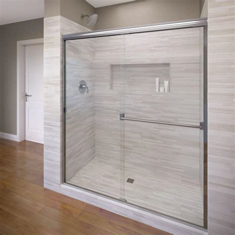 Basco Classic 60 In X 70 In Semi Frameless Sliding Semi Frameless Sliding Shower Door