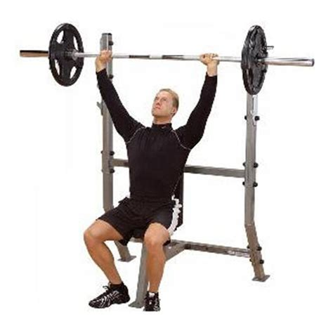 shoulder press bench pro club shoulder press olympic bench 152439 at