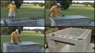 Building Outdoor Fireplace With Cinder Blocks - build a cinder block pit smoker for 250