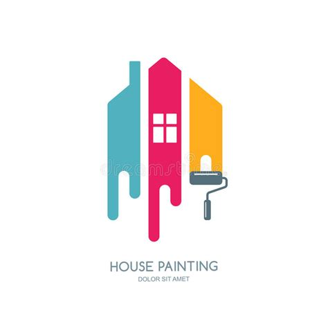 Logo Decoration by House Painting Service Decor And Repair Multicolor Icon