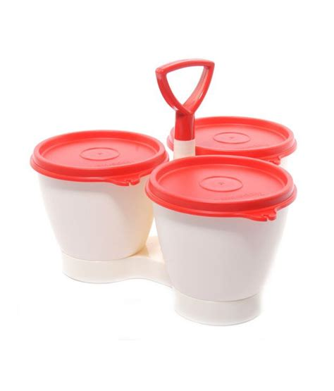 Tupperware Caravela Set 1 tupperware condimate set pickle server buy at best price in india snapdeal
