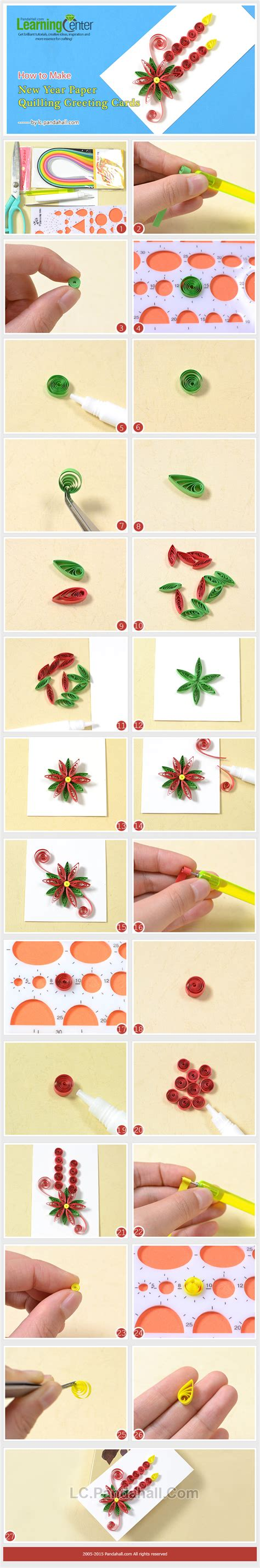 paper quilling greeting card tutorial how to make new year paper quilling greeting cards