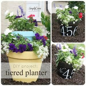 diy tiered terracotta planter address flower pot