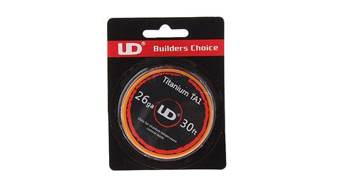 Authentic Kawat Kanthal A1 Ud 24awg 30ft 2 33 authentic ud titanium ta1 heating wire for rebuildable atomizers 26 awg 0 4mm dia