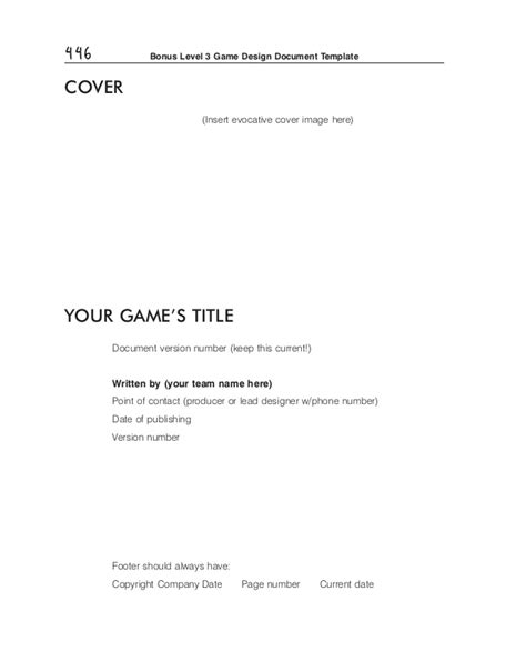 gdd template design doc template