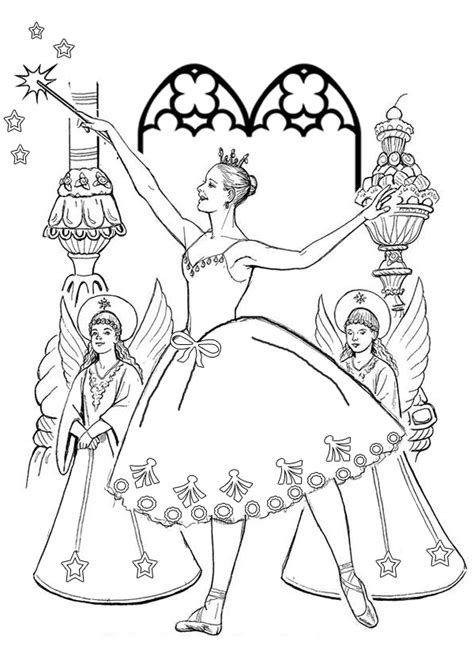 colouring pages christmas fairy free online printable kids colouring pages the sugarplum