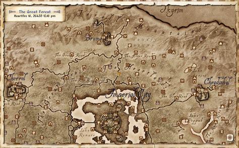 oblivion map image gallery oblivion world map