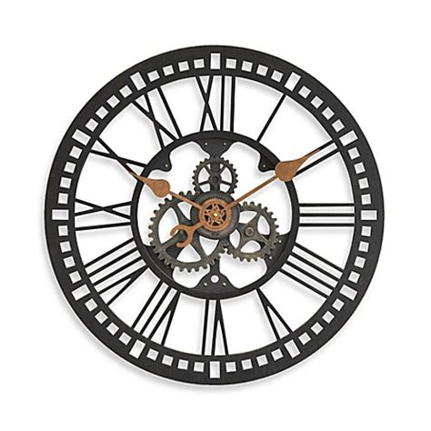 bed bath and beyond clocks buy firstime 174 roman gear clock from bed bath beyond