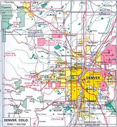denver colorado county map denver co road map