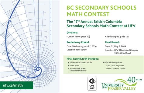 2014 Contests And Sweepstakes - ufv hosts bc secondary schools math contest may 2 2014 faculty of science
