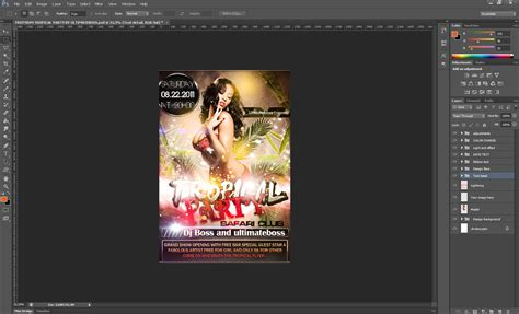 tutorial photoshop flyer tutorial how to use a party flyer template 187 saxoprint