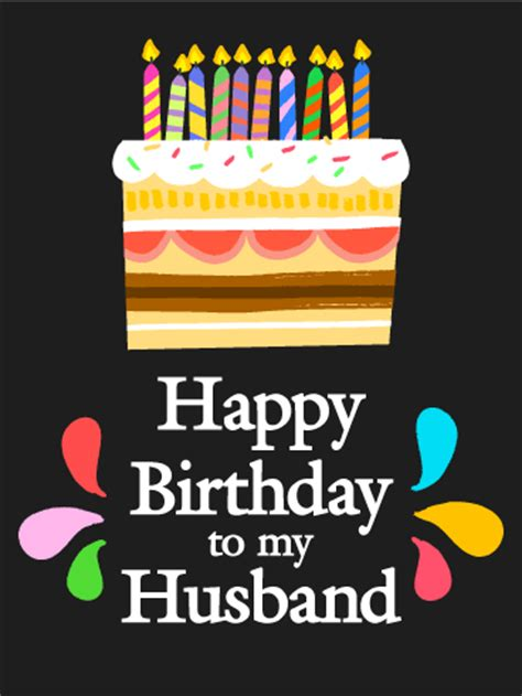 happy to my husband sweet happy birthday card for husband birthday