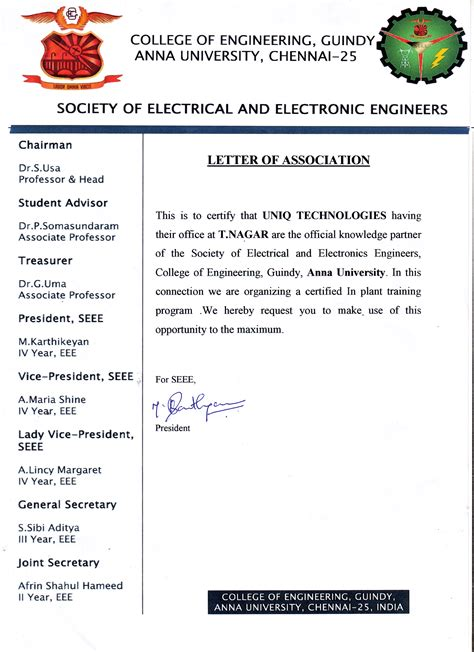 Electronics Resume Sample by Internship In Chennai For Engineering Students Internship