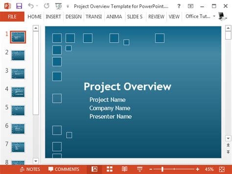 Free Project Plan Powerpoint Template Project Overview Template Powerpoint