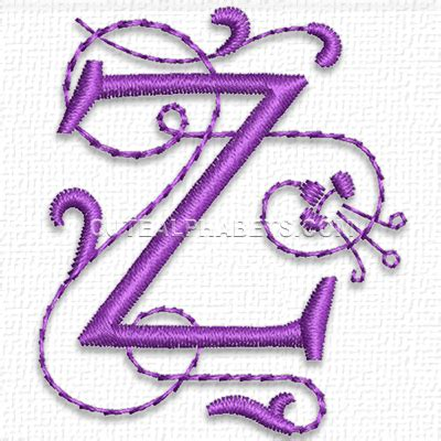 z pattern heart sounds letter z cute alphabets embroidery fonts