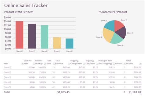Online Sales Tracker Office Templates Sales Tracker Template