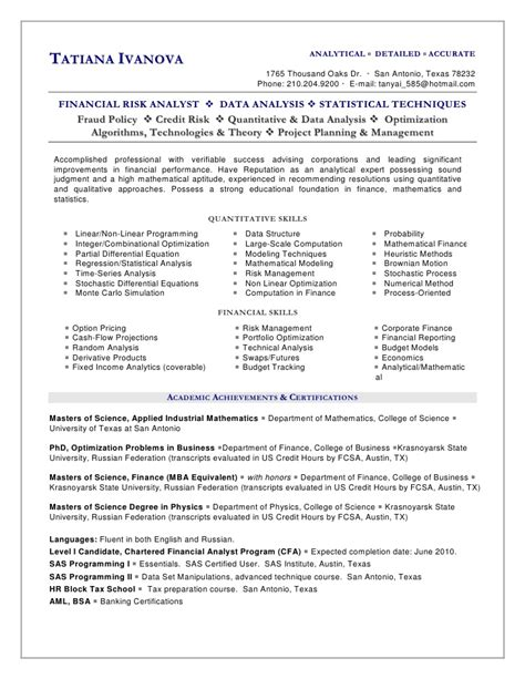 Resume Sample Business Analyst by Tatiana Ivanova Resume 2010