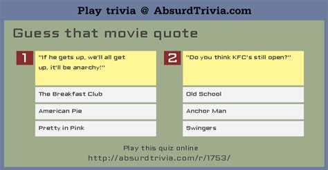movie quotes quiz and answers trivia quiz guess that movie quote