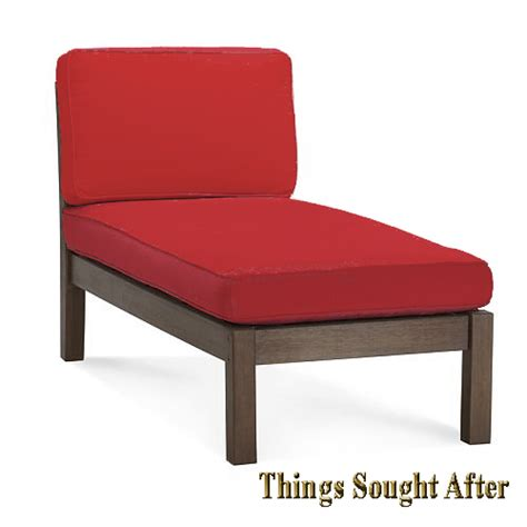 pottery barn chaise lounge pottery barn chesapeake chaise lounge chair red outdoor