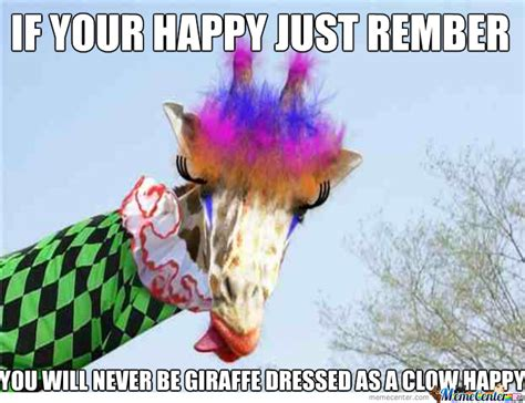 Giraffe Birthday Meme - giraffe clown by shukila meme center