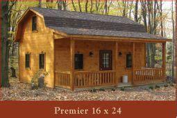 premier gambrel cabin    gambrel roof shed cabin