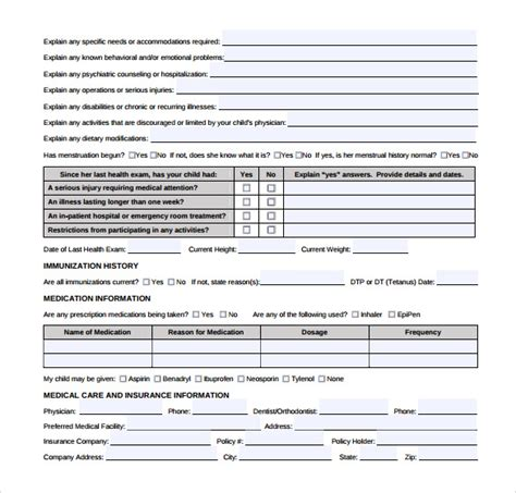 16 Medical Authorization Forms Sle Templates Medication Authorization Form Template