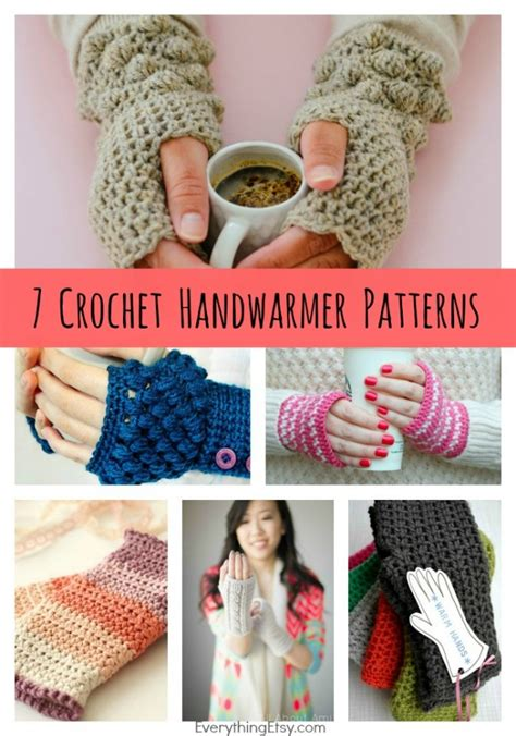 crochet diy diy crochet handwarmer patterns 7 free