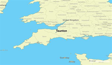 where is taunton taunton map