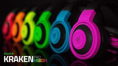 Razer Headset Kraken Neon Series add color to your with the razer kraken neon series of gaming headsets and headphones
