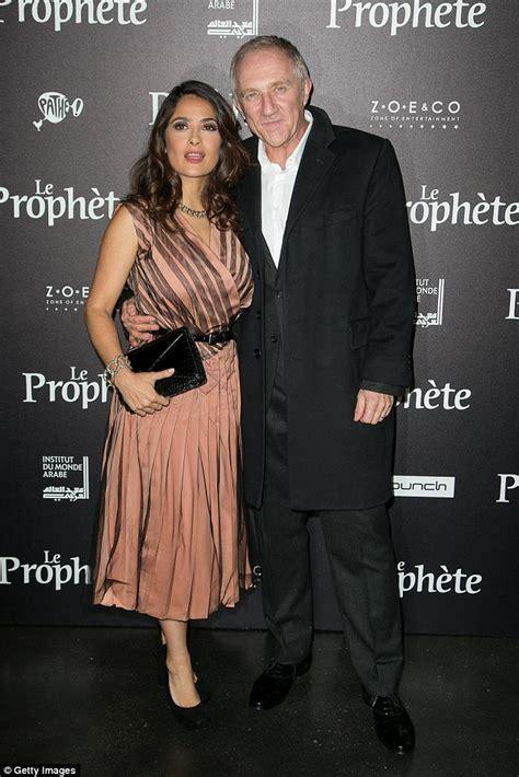 Salma Hayek Is Engaged And Knocked Up by Salma Hayek Heads To Premiere Alongside Husband Francois