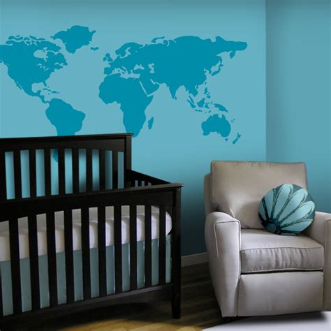 Baby Nursery Wall Decal Large World Map Nursery Wall Decal Wall Decals Nursery
