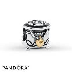 Jared pandora charm jewelry box sterling silver 14k gold