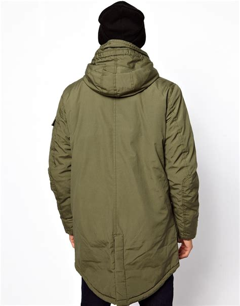 True Religion Parka by True Religion Jones Parka Jacket With Borg Lining In