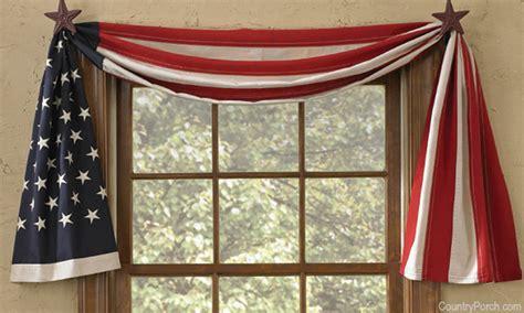 patriotic curtains flag window curtain swag