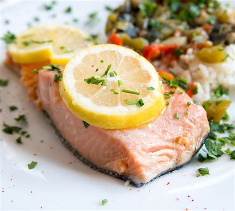 poached salmon simple poached salmon recipe dishmaps
