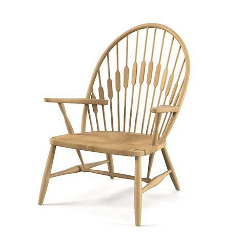 famous chair 3d obj peacock chair hans