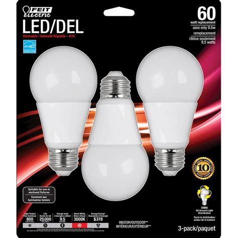 led light bulbs at lowes lowe s canada deal 3 pack feit led bulbs only 1 99 after