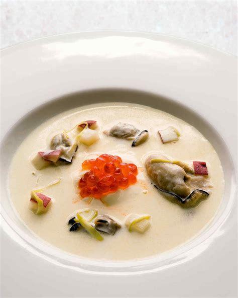 oyster stew food fam crafts oyster stew with caviar recipe martha stewart