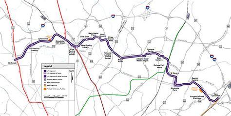 maryland dot map aci selected for maryland dot 30 year purple line light