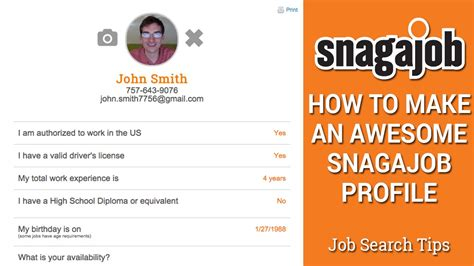 search tips part 4 how to make an awesome snagajob profile