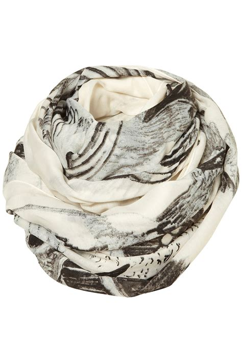 Topshops Skull Scarf Slouch Bag by Lyst Topshop Bird Skull Scarf In