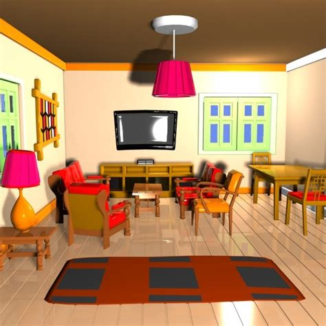 cartoon living room cartoon living room 3ds