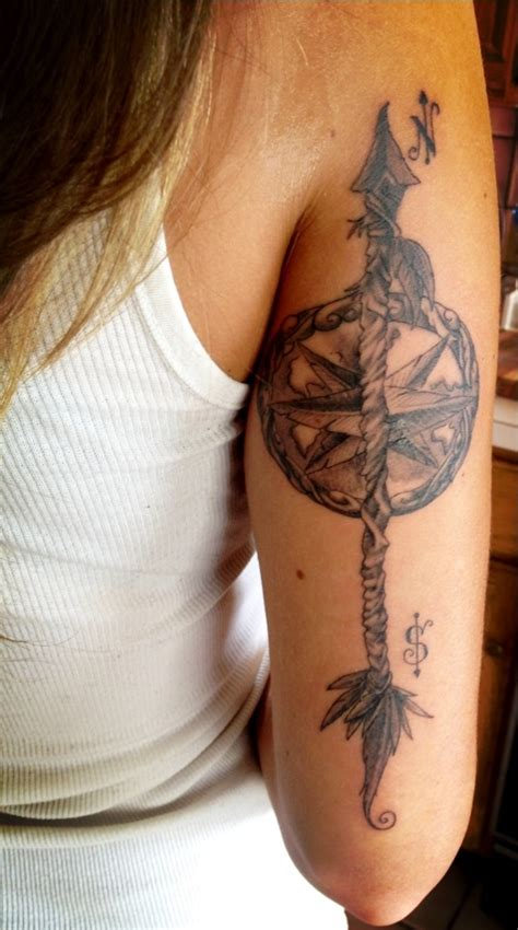 arrow compass tattoo compass and arrow tattoos globe