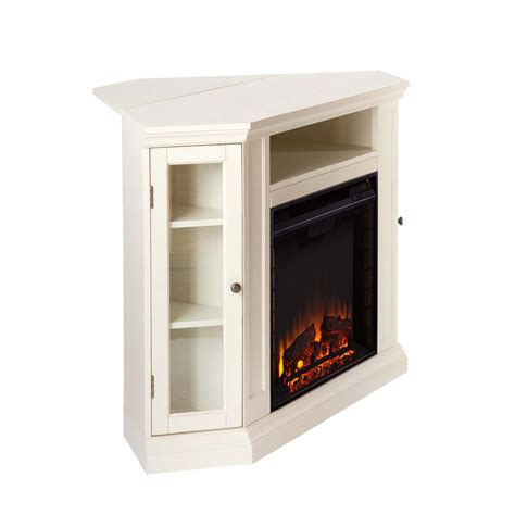 48 quot claremont convertible media electric fireplace ivory