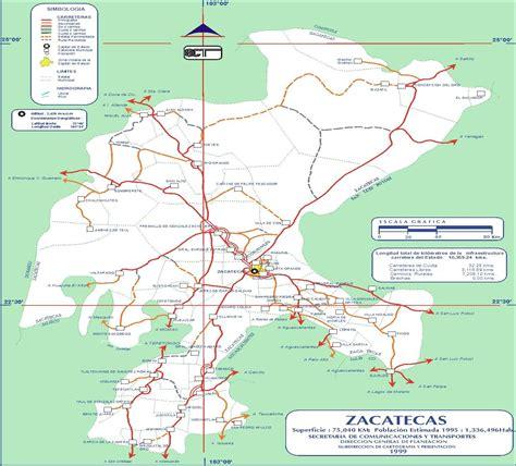 imágenes satelitales de zacatecas mapa de carreteras de zacatecas 1999 tama 241 o completo